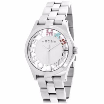 Harga Marc by Marc Jacobs Henry Skeleton Crystal Dial Stainless Steel Ladies Watch MBM3262