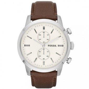 Fossil Townsman Chronograph Brown Leather Watch FS4865
