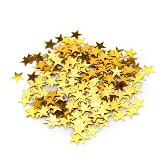 Wedding Sparkle Scatter Stars Table Confetti Foil Birthday Party Decor Gold 10mm - intl