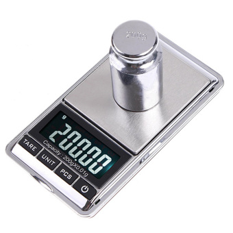 Harga 200g x 0.01g Mini Digital Scale 0.01g Portable LCD Electronic Jewelry Scales Weight Weighting Diamond Pocket Scales - intl