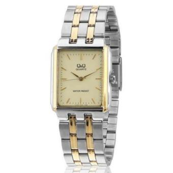 Harga Q&Q V868-400Y By Citizen Two Tone Gold Stainless Steel Gold Dial Analog Watch