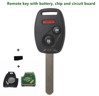 Harga Five Star Store 2003-2007 Remote Key with Chip ID46 433 MHz for Honda Accord FIT Civic Odyssey 3 (2+1) Buttons Keyless Entry Fob Car Alarm Case