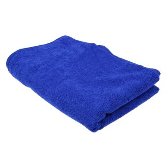 160*60cm Soft Blue Microfiber Cleaning Towel Car Auto Wash Dry Clean Cloth - intl