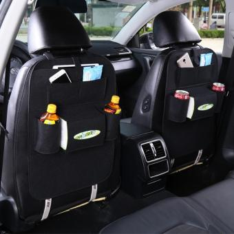Harga Multi-function Automotive Felt Car Seat Back Organizer Storage Bag - intl