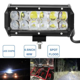 Harga 60W 6.5 Inch Car LED Work Light Bar Offroad Driving Fog Lamp (Spotlight) - intl