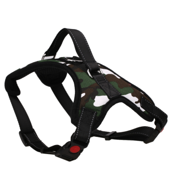 Harga Pet Dog Soft Adjustable Harness Pet Walk Out Hand Strap Vest Collar (L) - intl