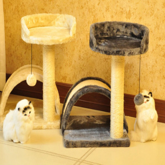 Pet toys for cat climbing frame toy Scratching Pad Cat Scratch toy cat house pet-5 cream