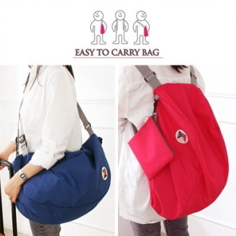Harga Smile foldable nylon shoulder bag. travel clothing storage bag. shopping bag backpack storage bag