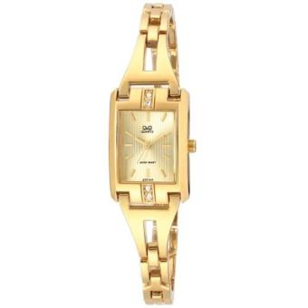 Harga Q&Q GT77-010Y By Citizen Gold Stainless Steel Gold Dial Analog Ladies Watch