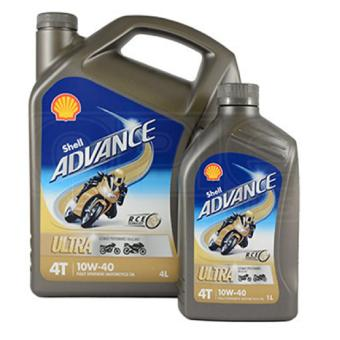 Harga Shell Advance Ultra 4T 10W-40 Fully Synthetic Motorcycle Oil - 1Litre (Pack of 6)