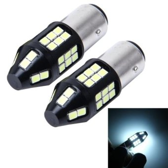 Harga 2 PCS 1157 10W 650LM 6000K Car Auto Brake Lights Turn Light Backup Light With 40 SMD-3030 LED Lamps, DC 12V(White Light) - intl