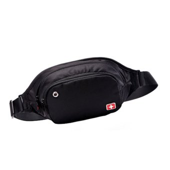 "New Brand SWISSGEAR/SCHWYZ+CROSS Waterproof Polyester 7"" Laptop SWISS Unisex Fashion Shoulder Bag Solid Waist Bag JDB94 - Intl - 5"