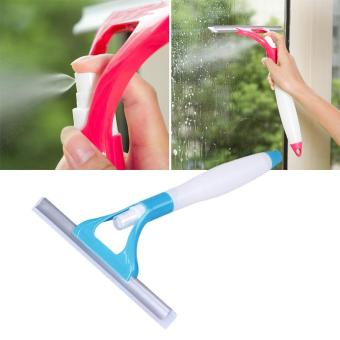 Spray type cleaning brush glass wiper car window clean shave (Blue) - 2