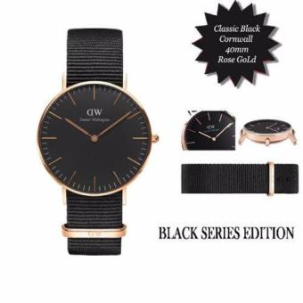 Daniel Wellington Men's Classic Black Cornwall Watch 40mm Rose Gold / DW00100148(Black)