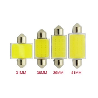 Harga 4 Piece/lot 31mm Car COB 12V Interior Car LED Bulbs Lamp Interior Dome Reading License Plate Lights 31mm 36mm 39mm 41mm COB Light for Car - intl