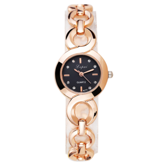 Harga WomenFahion Aoy Quartz Writwatch (God+Back)