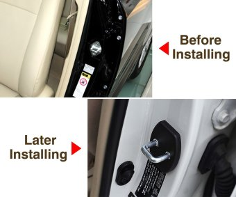 For Toyota Yaris Highlander Prado Prius Corolla Camry 2006-2011 Rav4 2007-2012 Reiz Vois 2009-2013 Car Door Lock Buckle Cover - Intl - 4