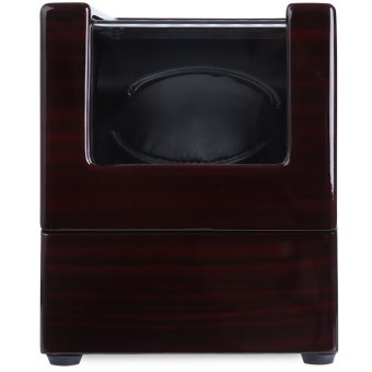 Harga Automatic Wooden Watch Winder Display Box Deluxe Flipping Transparent Cover Jewelry Storage Case