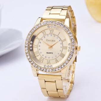 Harga Women Fashion Wrist Watch Casual Ladies Watch Diamond Roman Scale Quartz Watch - intl