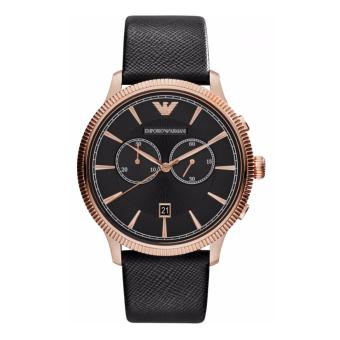 Harga Emporio Armani Classic Chronograph Black Dial Leather Men's Watch AR1792