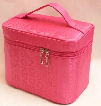 Women Cosmetic Bags Travel Makeup Bag Make Up Bags (Rose)