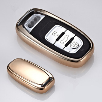 Harga Remote Flip Key Cover Case For AUDI Smart Car Remote Key Case Protection Key Bag Shell For Audi Key Case(Gold) - intl
