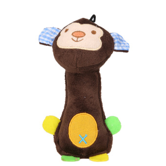 Harga Pet Chew Squeaker Squeaky Plush Sound Cartoon (Monkey) (Brown) - intl
