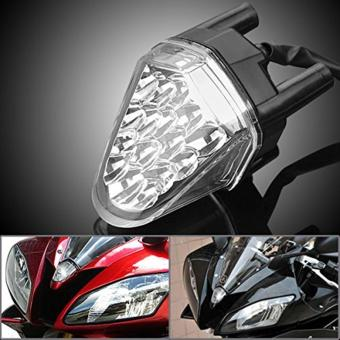 Harga Clear 6000K 16 LED Top Upper Front Headlight Windscreen For Yamaha YZF R6 06-07 - intl