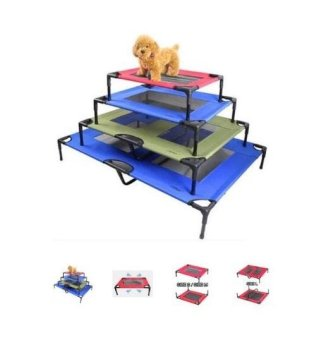 Harga ELEVATED PET COT / BED FRAME WITH NET M Blue