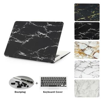 JUSHENG® Pro 13 Retina A1706/A1708 3in1 MacBook Marble Plastic Hard Case with Keyboard Cover + Dust Plug for Newest Macbook Pro 13 Inch with Retina Display No CD-ROM (A1706/A1708, Oct 2016) - intl