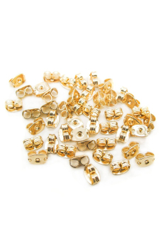 Harga Buytra Earring Back Ear Nuts Metal Stopper 10Pcs (Gold)