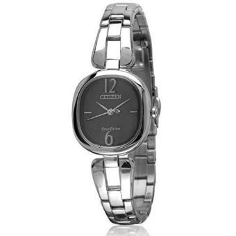Harga Citizen Eco-Drive EM0180-56E Black Dial Stainless Steel Analog Ladies Watch