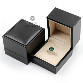 Harga TOP grade SOFT leather microfiber in big quality engagement ring box jewelry box big box necklace long chain box
