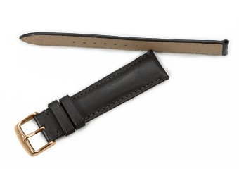 iStrap 18mm Genuine Calf Leather Watch Band Strap Rose Gold Spring Bar Buckle Replacement Clasp Super Soft Black 18 - 5