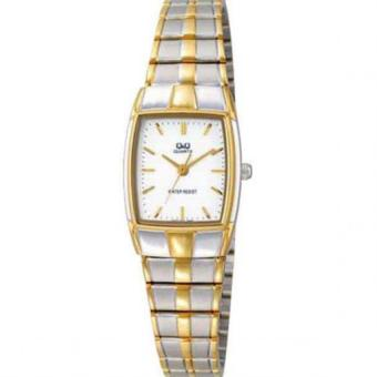 Harga Q&Q VN63-401Y By Citizen Two Tone Gold Stainless Steel White Dial Analog Watch