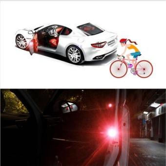 2pcs/set Car LED Door Opened Signal Warning Strobe Light Wireless Flash Decorative Indicator Anti-Collision Lamp Red - intl - 4
