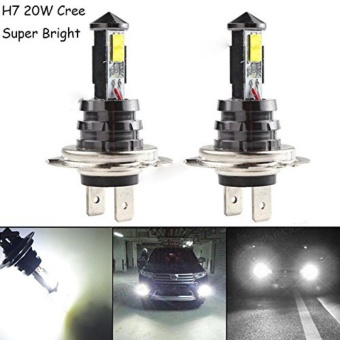 Harga 2X H7 20W CREE XTE HID Car Led Bulb Fog Driving Headlight Headlamp DRL Led Light - intl