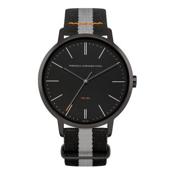 Harga Fcuk Watch Black Stainless-Steel Case Nylon Strap Mens NWT + Warranty FC1264BB