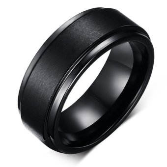 Harga Cool Men Tungsten Carbide Ring Pure Tungsten Black Rings for Men Jewelry 8mm Wide Men Wedding Engagement Rings