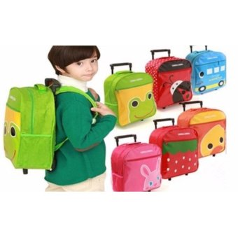Harga Kids Rolling Trolley School Bag