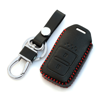 Harga Leather Smart Key Cover Key Case Fit For Honda Vezel HR-V XRV Jed Jazz - Intl