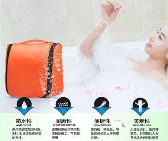 Waterproof Water Resistant Lightweight Travel Toiletries Cosmetics Bags Pouch-Black - 3