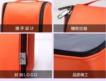 Waterproof Water Resistant Lightweight Travel Toiletries Cosmetics Bags Pouch-Black - 4