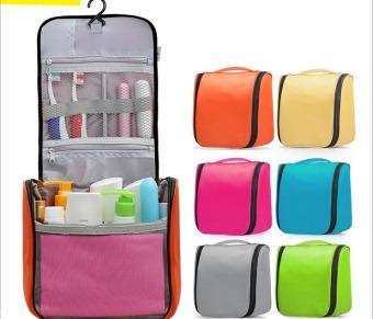 Waterproof Water Resistant Lightweight Travel Toiletries Cosmetics Bags Pouch-Black - 2