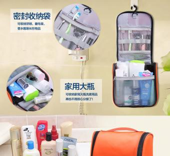 Waterproof Water Resistant Lightweight Travel Toiletries Cosmetics Bags Pouch-Black - 5