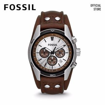 FOSSIL COACHMAN CHRONO DARK BROWN LEATHER WATCH