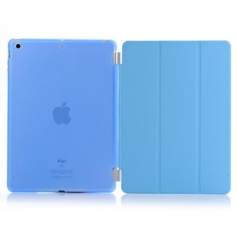 Harga Welink Detachable Tablet Smart Cover + Slim Transparent Back Case for Apple iPad Air 2 (Blue) (Intl)