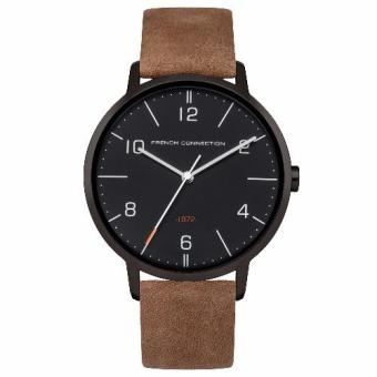 Harga French Connection Newgate 39mm - Tan Brown Leather Strap (FC1277BT)