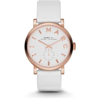 Harga Marc Jacobs Baker White Leather Strap Watch MBM1283
