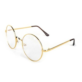 Harga Round Glasses Dress Up Spectacles (Golden)